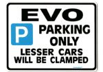 EVO Large Sign for mitsubishi lancer 4 5 6 7 8 9 VII